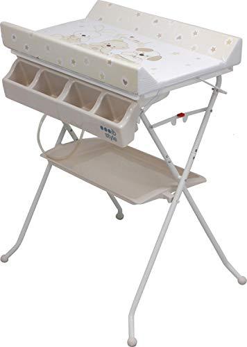 IB-Style - table à langer et baignoire  pliable  3 Decors  Bébé de stockage de bain  Unité baignoire (Color : Friends)
