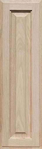 Unfinished Oak Cabinet Door, Square with Raised Panel by Kendor 28H x 8W