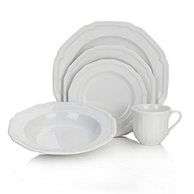 Mikasa Antique White 40-Piece Dinnerware Set, Service for 8