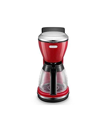 DeLonghi ICMO210.R Kaffemaschine Filterkaffeemaschine 1000 Watt Tropfstopp rot