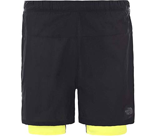 THE NORTH FACE Vuelo Mejor Que Desnudo Concepto 2in1 Pantalones Cortos Hombres TNF Negro/TNF Limón 2020 Cortos Cortos
