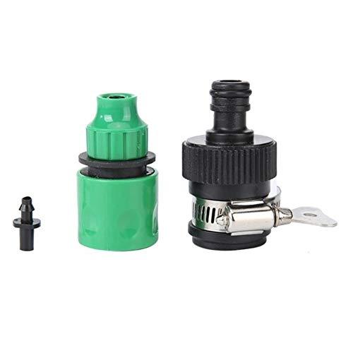 MINGMIN-DZ Durable 2 Piezas de plástico de la válvula con Conector rápido Agricultura Jardín Cuarto del jardín del Agua de riego de Anclaje rápido Conectores rápidos de mangueras de riego