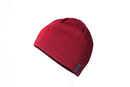 Marmot Erwachsene Summit Hat (MME) Warme Woll-Mix Mütze Mit Mikro-Fleece Innenband, Claret, One Size