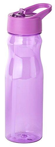 Thermo Rex Trinkflasche CHILL | 708ml | lila | BPA-freier Kunststoff | nahezu bruchsicher u wiederverwendbar | integrierter Strohhalm | Sportflasche