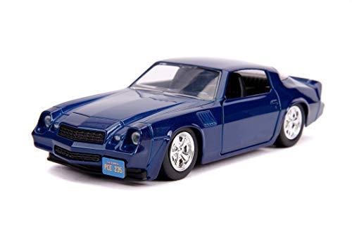 Jada Toys 253252005 Stranger Things Billy's Chevy Camaro, 1979, Z28, Spielzeugauto aus Die-cast, Türen zum Öffnen, Maßstab 1:32, blau