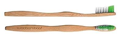 Bamboo Toothbrush - Adult - Medium Bristle - BPA Free Nylon Bristles - Eco-Friendly, Biodegradable, Compostable, Vegan by WooBamboo!