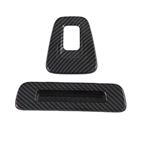 Phoenixset Fibra de Carbono ABS Top Techo de Techo Manija de la Ventana Marco de la Barra Ajuste para Ford Transit 2017 Ford Tourneo Custom 2016 (Color : Carbon Fiber Black)