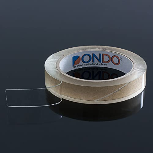 Dichtband Dondo-Seal Glasklar selbstklebend Hochleistungs Dichtband transparent wasserdicht (19mm x 3m, transparent)