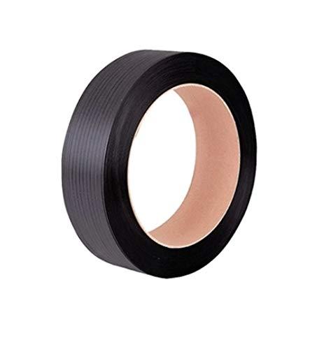 Reggia Reggetta In plastica Polipropilene Nera Ppl 12x0,8 in Rotolo da 2000 mt, diametro interno 392mm