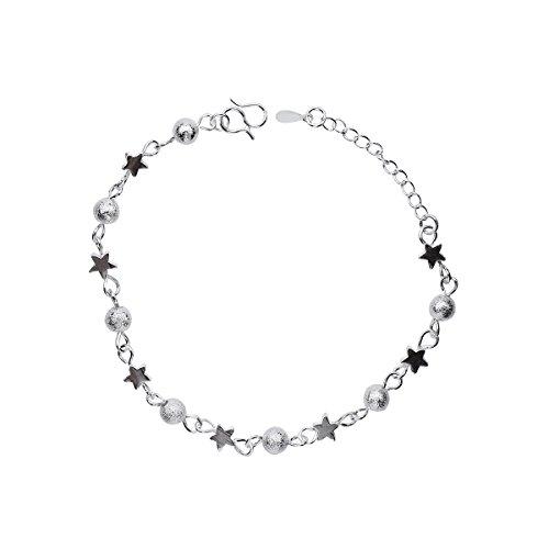 NANHONG, braccialetto con ciondoli a perline, catenaria da polso con stelle in argento Sterling 925, in confezione regalo