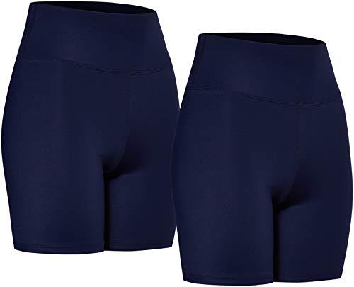 Amazon-Marke: AURIQUE Damen Radlerhosen 2er Pack, blau (marineblau), 34, Label:XS