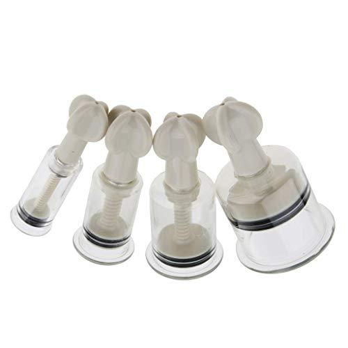 Backbayia 4pcs Tasses Acupuncture/Tasse Sous Vide Rotatives Ventouses de Massage pour Soulager Musculaire