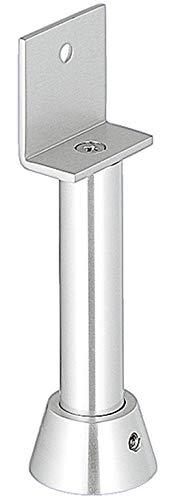 Gedotec Trennwand-Stützen KWS 4211 für Trennwandsysteme & WC`s   Stützfuß silber matt mit Winkel-Auflage   Aluminium massiv   Höhe: 100 mm   1 Stück - Trennwand-Halterungen mit Befestigungsmaterial