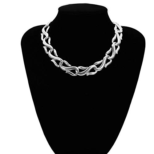 GUANQNN Gargantilla Collar Collar Hip Hop Heavy Metal Aluminio Grueso