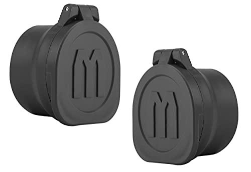 Monstrum Rubberized Flip-Up Rifle Scope Lens Cover Set