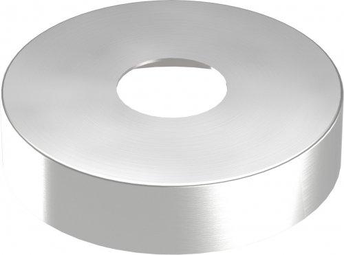 Abdeckrosette 105 x 25mm, Wandstärke 1mm, Bohrung ø 34mm