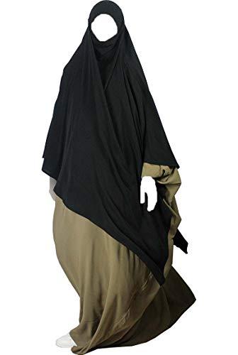 Khimar mit Niqab option Langer Hijab mit integriertem Haarband hält ohne Nadel - praktisches kopftuch für Muslimische frauen Confectionsoumk