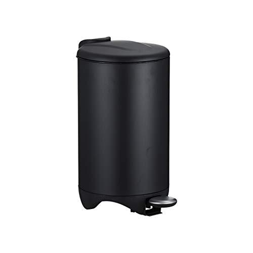 bote de basura cocina 7L Papelera de interior puede acero inoxidable Dormitorio papelera de estar Cocina Can Tipo de Hogar pedal bote de basura con tapa 1.8 galones Negro / / plata blanco / rosa bote