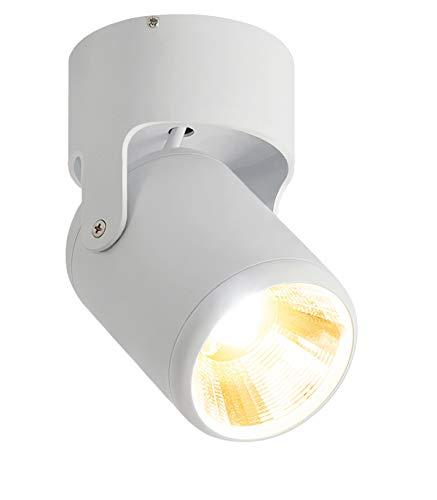 Budbuddy 12W LED faretti a led per interni faretto da soffitto cubo Spot light faretti regolabili da soffitto moderna per cucina negozio sala (Bianco, Bianco caldo)