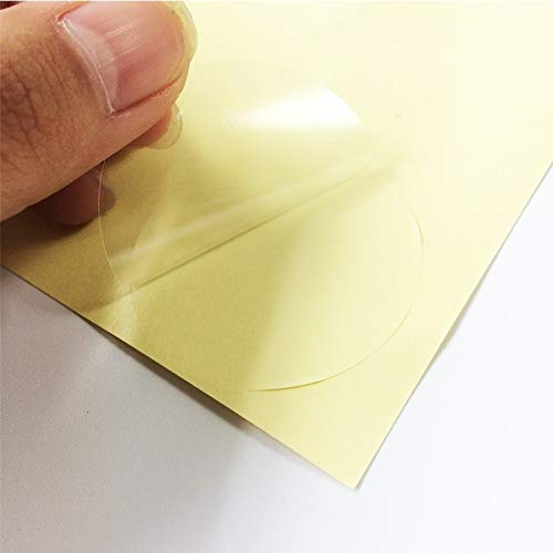 240 Stück/Los Transparenter runder leerer Aufkleber DIY-Etiketten Geschenk Selbstklebendes Adesivos-Siegel-Verpackungsetikett