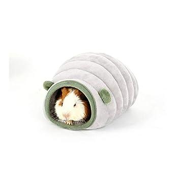ZhiTianGroup Chat Maison Hamster Cotton Nest Puppy Pet Bed Pet Supplies Nest fermé Cat Four Seasons Universal Amovible Matelas (Color : Grey, Size : XS)