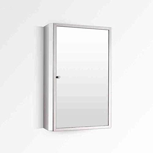 RANRANJJ Espejos y Más empotrada Espejo con Marco de Acero Brillante Botiquín |Fijo Plataforma |Cuarto de baño |Cocina (Size : Right Door)