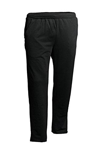 Ahorn Sportswear grote maten. Basic Extra lange joggingbroek zwart 3XL tot 4XL