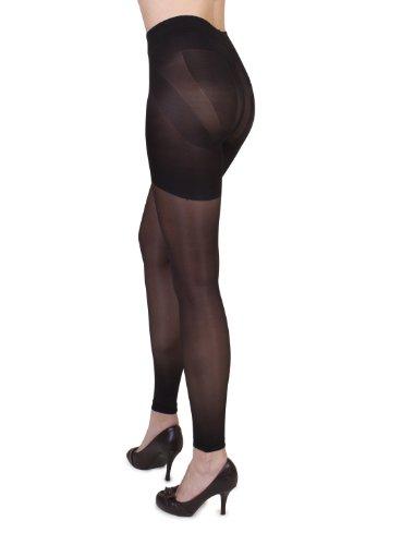 belly cloud Damen Miederhose NA, figurformende Leggin mit integrieter Panty, Gr. 42/44 (M), Schwarz (schwarz)