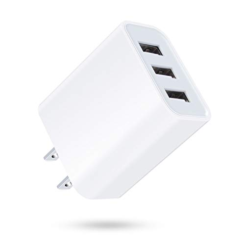 USB 充電器 3ポート ACアダプター USB コンセント[PSE認証済み 3USBポート15W 急速充電] iPhone スマホ 充電器 アンドロイド 携帯充電器 電源アダプター AC充電器 iPhone·iPad·Androidなど対応 海外対応 正規品