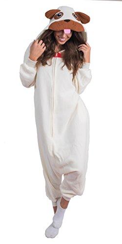 Unisex Adult Pajamas Plush One Piece Cosplay Pug...