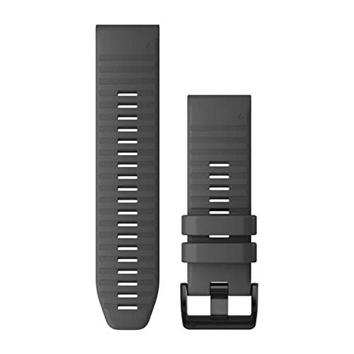 Garmin QuickFit 26 Watch Bands, Slate Gray Silicone