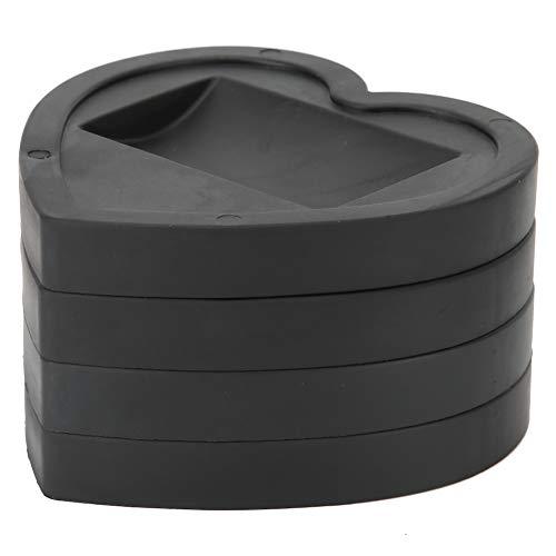 Soapow Accesorio universal antideslizante en forma de corazón para muebles con ruedas de rueda, tapón, protector de piso