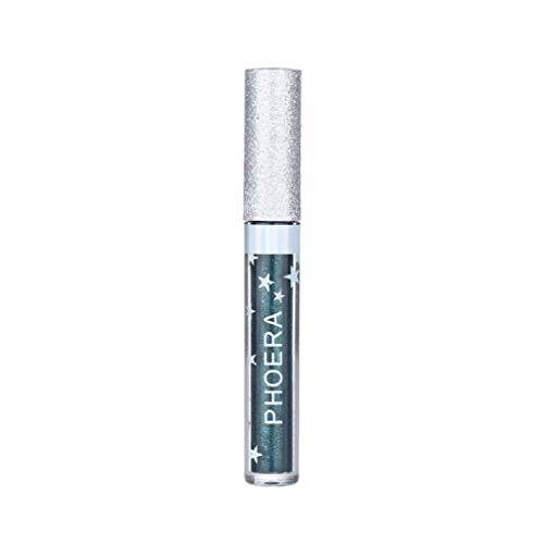 TOWAKM Lippenstift,PHOERA Matte to Glitter Liquid Lipstick Wasserdichtes Lipgloss Makeup