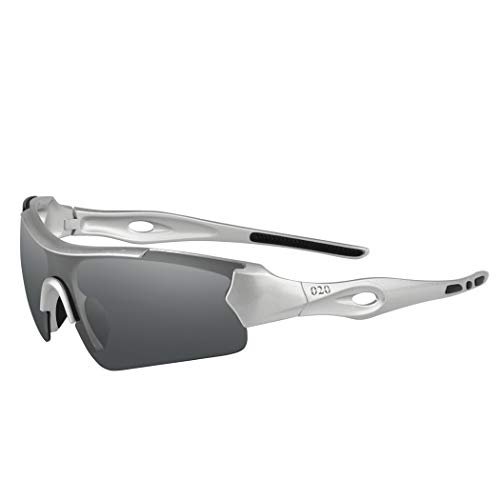 O2O Polarized Sports Sunglasses for Men Women Teens Biking Driving Golf Baseball Cycling Fishing Running (Aluminum gray)