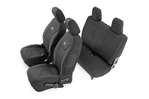 Rough Country Neoprene Seat Covers (fits) 2013-2018 Jeep Wrangler JK | 2DR | 1st/2nd Row | Water Resistant | 91007