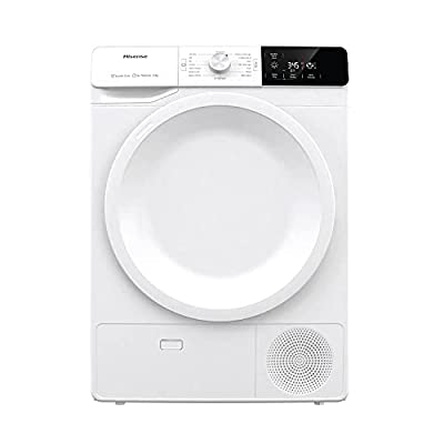 Hisense DCGE801 60cm Freestanding 8KG Front Load Condenser Tumble Dryer - 16 Programmes - Cupboard Dry - Air Refresh - Start Delay - White