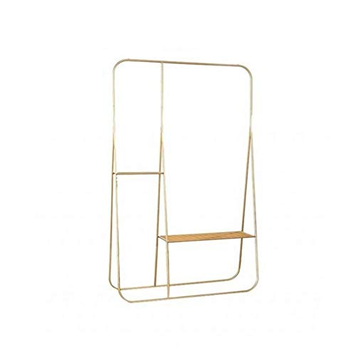 CSQ-Wall Coat Racks Metal Clothing Rack, Fashion Vertical Clothes Rail Boutiques Clothing Display Stand Partition Suspension Coat Racks Clothes Shelves (Color : Gold, Size : 170100CM)