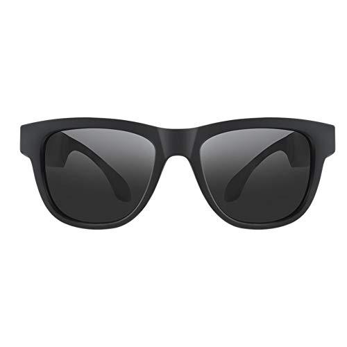 TEEKOO Smart Glasses für Knochenleitung, Bluetooth Bone Conduction Drahtlose Headset-Mikrofon-Brille für Frauen Männer