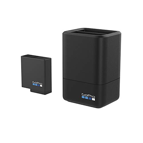 GoPro Dual Battery Charger + Battery (HERO6 Black/HERO5 Black) and GoPro Rechargeable Battery