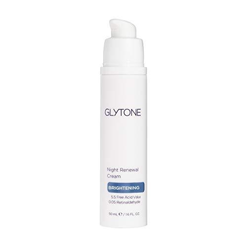 Glytone Night Renewal Cream with 5.5 Free Acid Value Glycolic Acid & Retinaldehyde, Improves Skin Elasticity, Reduce Appearance of Fine Lines & Wrinkles, 1.7 oz.