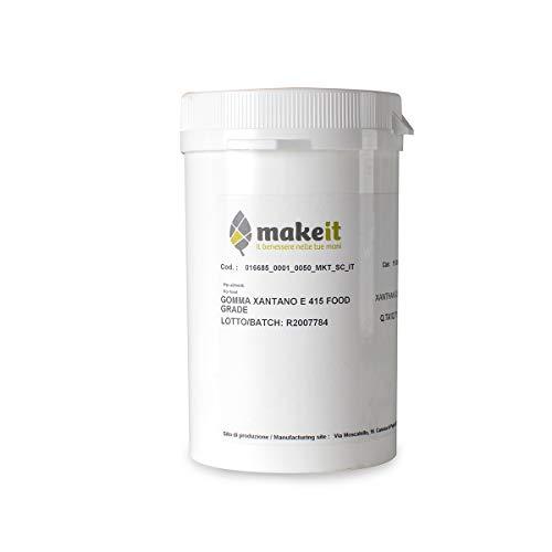 Make it Lab - Gomma Xantana (Xantano) - Grado Alimentare, Gelificante per Cosmetici e Alimentari - 50 g