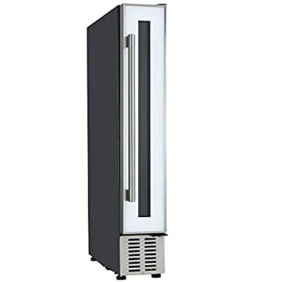 Cookology 15cm Wine Cooler, 7 Bottle Undercounter Freestanding Cabinet Fridge (White)