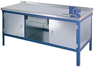 Heavy Duty Steel Work Bench with Cupboard and Drawer