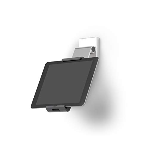 Durable 893523 Tablet Wandhalterung (mit Tragarm für Tablets 7-13 Zoll, 360° drehbar mit Diebstahlsicherung) silber/anthrazit