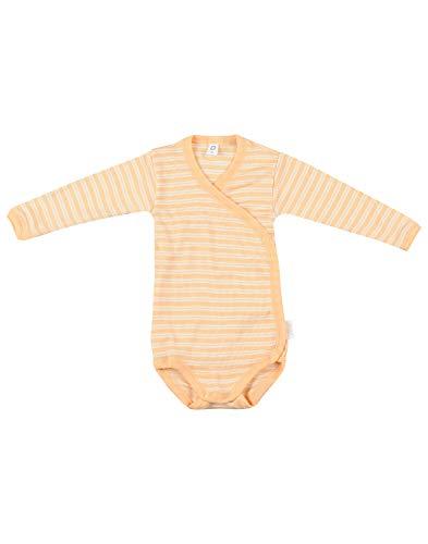 Dilling Wickelbody für Babys aus Bio Wolle & Seide Aprikot/Natur 56