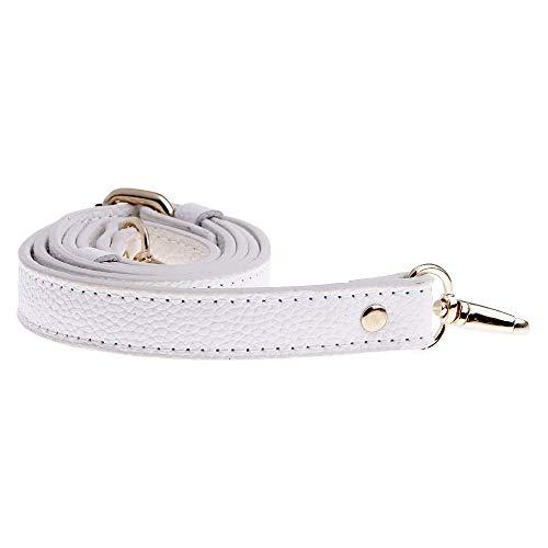 POFET 110-130cm regolabile in vera pelle borse tracolla tracolla maniglia sostituzione borsa accessori - bianco