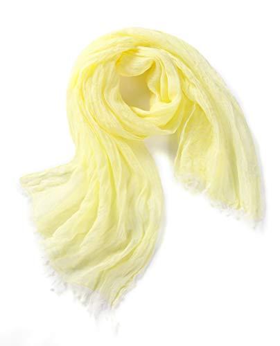 Prettystern gevlekte effen unisex lange linnen sjaal