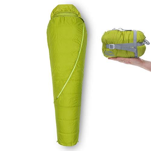 Qeedo Sommer-Schlafsack Light Hitazo, kleines Packmaß (19 x 16 cm) / extrem klein & leicht (670g) - grün