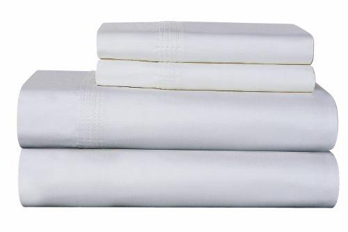 Karen Neubuerger 610 Thread Count 100-Percent Pima Cotton Deep Pocket Luxury King Sheet Set, White