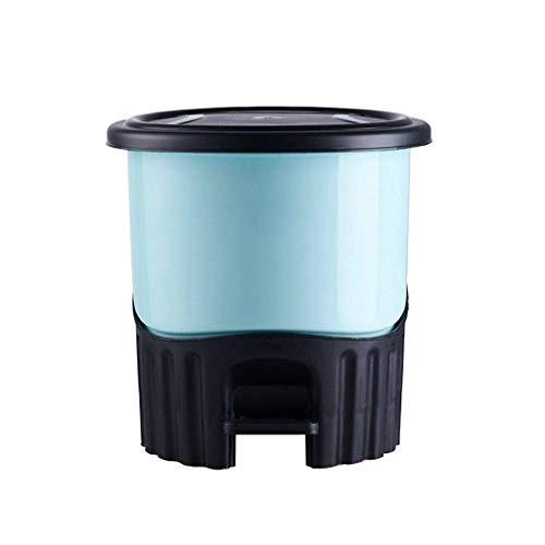 Poubelle- Poubelle à pédale avec couvercle, poubelle séparée de style européen pour la chambre à coucher du salon (Couleur : C, taille : 5.5L)